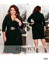 Деловое платье- пальто с двумя рядами пуговиц с 52 по 58 размер, фото 3