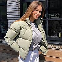 Женская оливковая демисезонная курточка, фото 1
