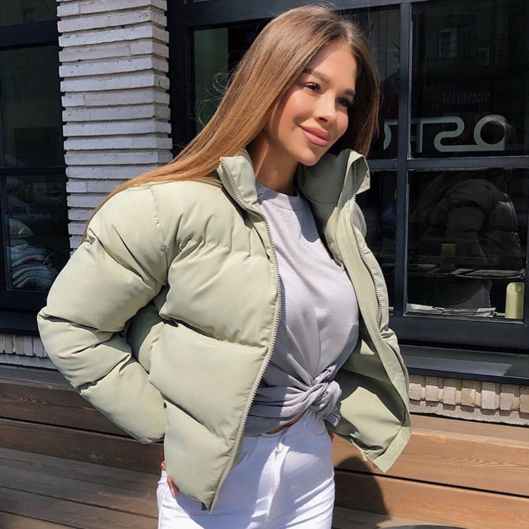 Женская оливковая демисезонная курточка