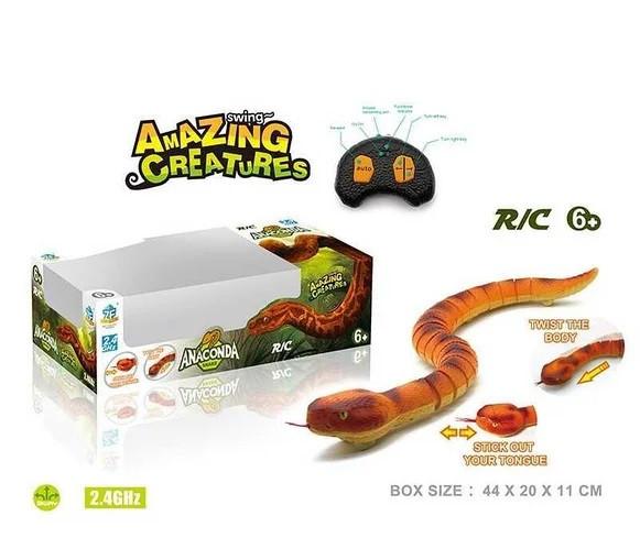 Змія на пульті управління Анаконда ворушить язиком арт.7707