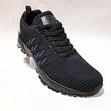 41 р. чоловічі кросівки з текстилю Весна-Літо Bonote Чорні Остання пара