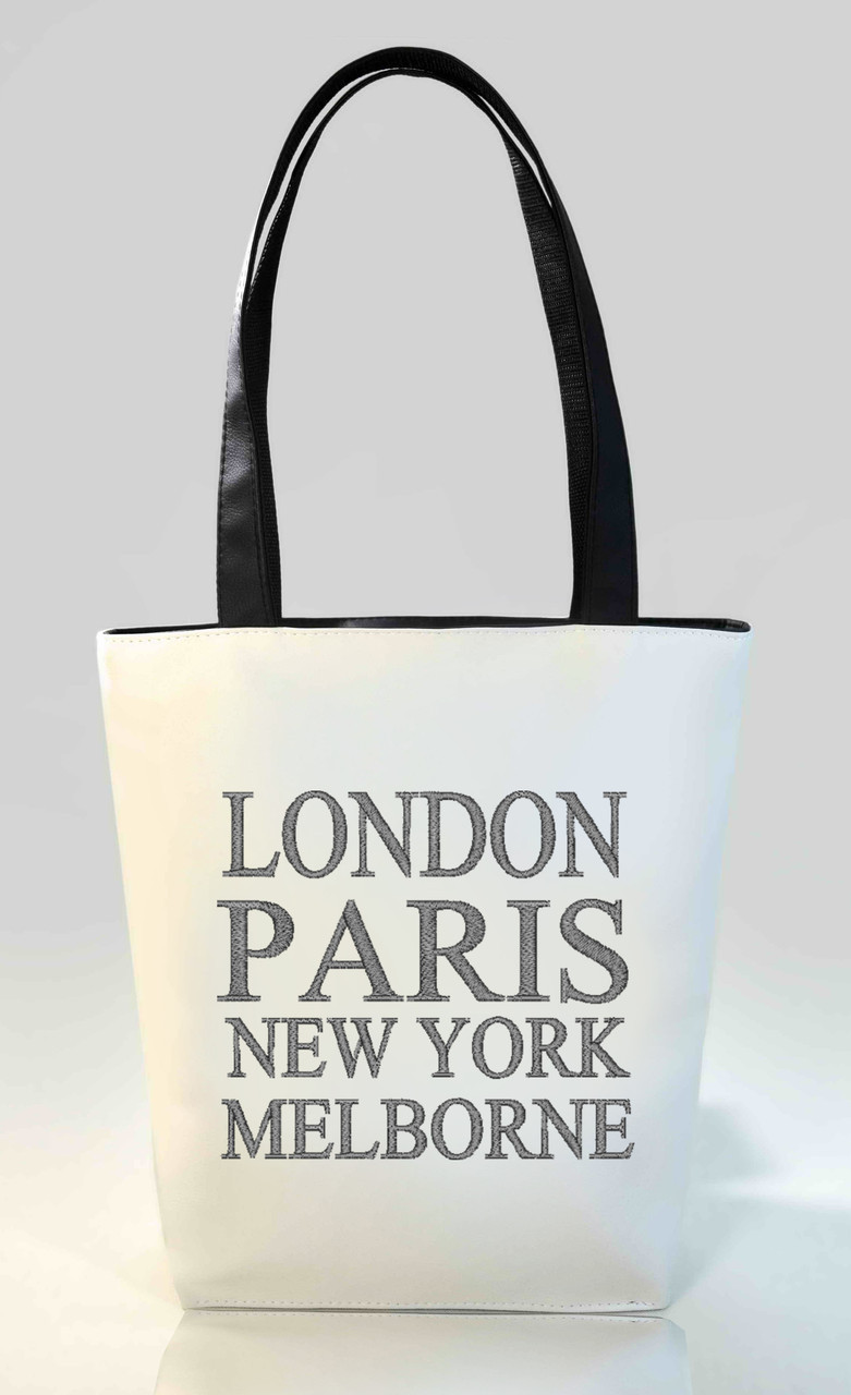 "Женская сумка ""London, Paris"" Б346 - белая"