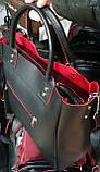 Женская черная сумка из искусственной кожи 32*29 см, фото 4