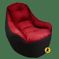 Безкаркасне Крісло Boss - Чорно-червоний