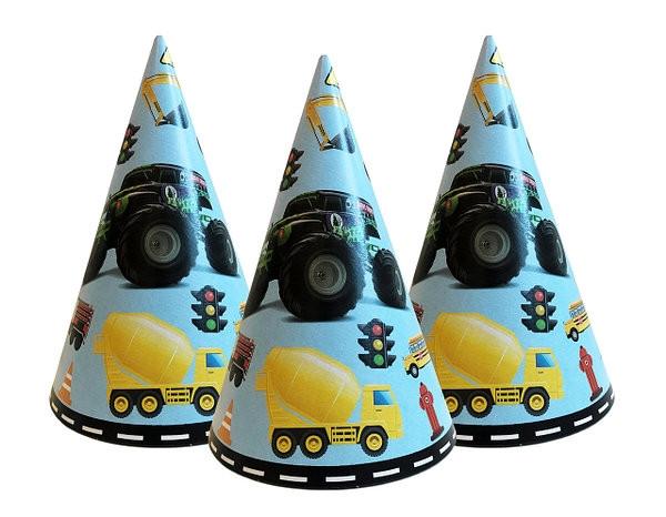 Колпачки праздничные детские Транспорт 10 шт