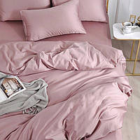 Комплект постельного белья сатин однотонный Розовая пудра