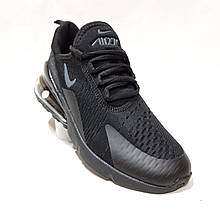 42,44,45 р Спортивні чоловічі кросівки Nike Air Max 270 (Найк Аір Макс 270) з сітки Чорні