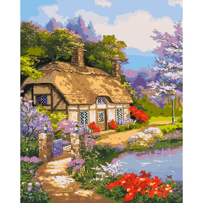 Картины по номерам Идейка 40х50 см Загородный дом (КНО2255)