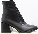 Высокие ботинки женские кожаные от производителя модель РИ6057-1, фото 2