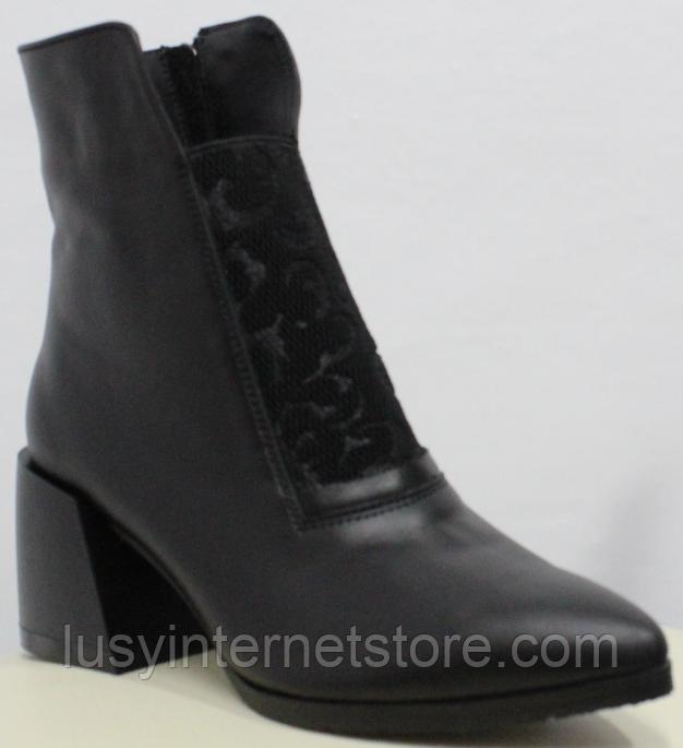 Высокие ботинки женские кожаные от производителя модель РИ6057-1
