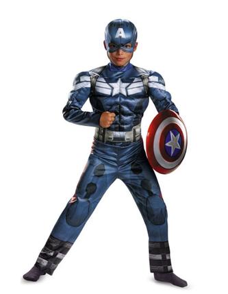 Костюм Капитан Америка ABC (S 110 - 120 см), фото 2