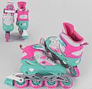 Детские ролики 80065-М Best Roller р.34-37, колёса PVC, свет переднего колеса, d колёс7 см роликовые коньки, фото 2