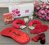 """Красивый эротический набор с наручниками """"LOVE!, фото 1"""