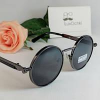 Круглые экстравагантные поляризованные очки Matrix с пружинками