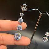 Lux Сережки з посрібленням та діамантами ювелірними (циркони), фото 2