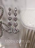 Lux Сережки з посрібленням та діамантами ювелірними (циркони), фото 8