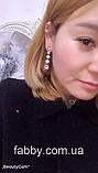 Lux Сережки з посрібленням та діамантами ювелірними (циркони), фото 7