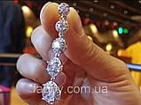 Lux Сережки з посрібленням та діамантами ювелірними (циркони), фото 5