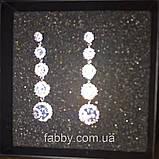 Lux Сережки з посрібленням та діамантами ювелірними (циркони), фото 3