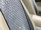 Накидки на сидіння з алькантари (штучної замші), Сірий металік. Стандарт. Повний комплект, фото 4