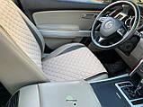 Накидки для авто з перфорованої екошкіри, Світло-бежевий, Стандарт, 2 передніх, фото 3
