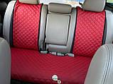 Накидки задні для авто зі шкірозамінника, Червоні, фото 2