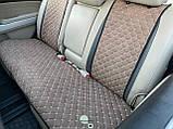 Накидки задні для авто з перфорованої екошкіри, Світло-коричневі, фото 2