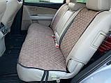 Накидки задні для авто з перфорованої екошкіри, Світло-коричневі, фото 4