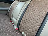 Накидки задні для авто з перфорованої екошкіри, Світло-коричневі, фото 5