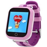 Детские смарт часы Q100S (Q750) с GPS трекером, Smart Baby Watch, телефон, трекер, розовые