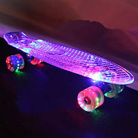 """Скейт Penny Board """"Light Side"""". Дека и колеса светятся!"""