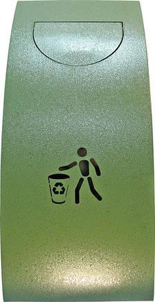 Урна для сміття ProfitM УДС -1 Зелений молотковий (1277), фото 2