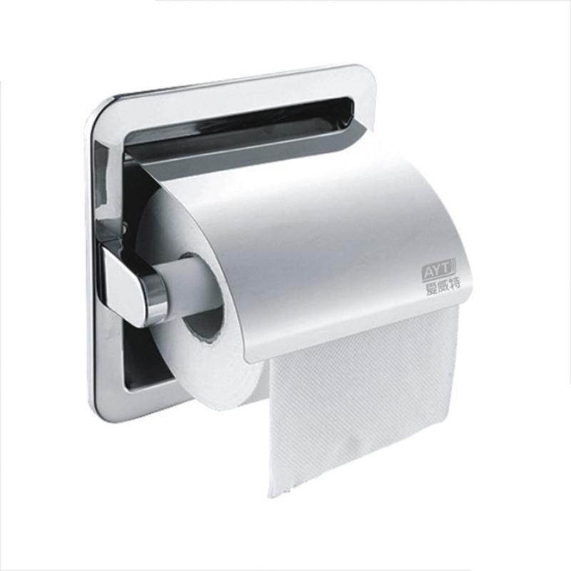 Настенный держатель туалетной бумаги AYT 009F Хром