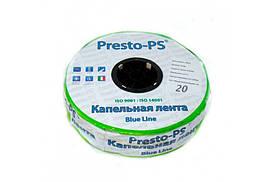 Італійська эмиттерная крапельна стрічка з кроком 20 см 500 м Presto-PS 2.4 л/год
