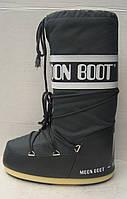 Луноходы Moon boot женские стильные черные розовые белые