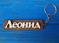 Брелок именной Леонид. Брелок с именем Леонид. Брелок деревянный. Брелок для ключей. Брелоки с именами