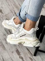 Женские кроссовки Balenciaga Triple S white, фото 3