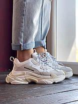 Женские кроссовки Balenciaga Triple S white, фото 2