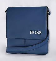 """Мужская сумка """"BOSS"""" А 10 синяя, фото 1"""