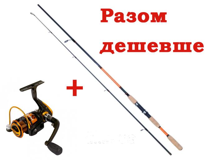 Рибальський набір на хижака Спінінг Kalipso Premier 2.40 м 7-35 гр Котушка PINXI PK 500 FD