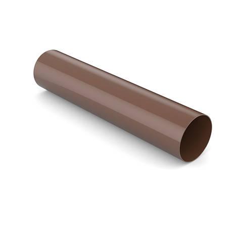 Труба водостічна BRYZA 125 90 мм 3 м Коричневий, фото 2