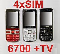Nokla 6700 TV на 4 sim