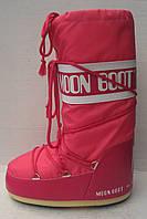 Луноходы модные Moon boot розовые черные белые