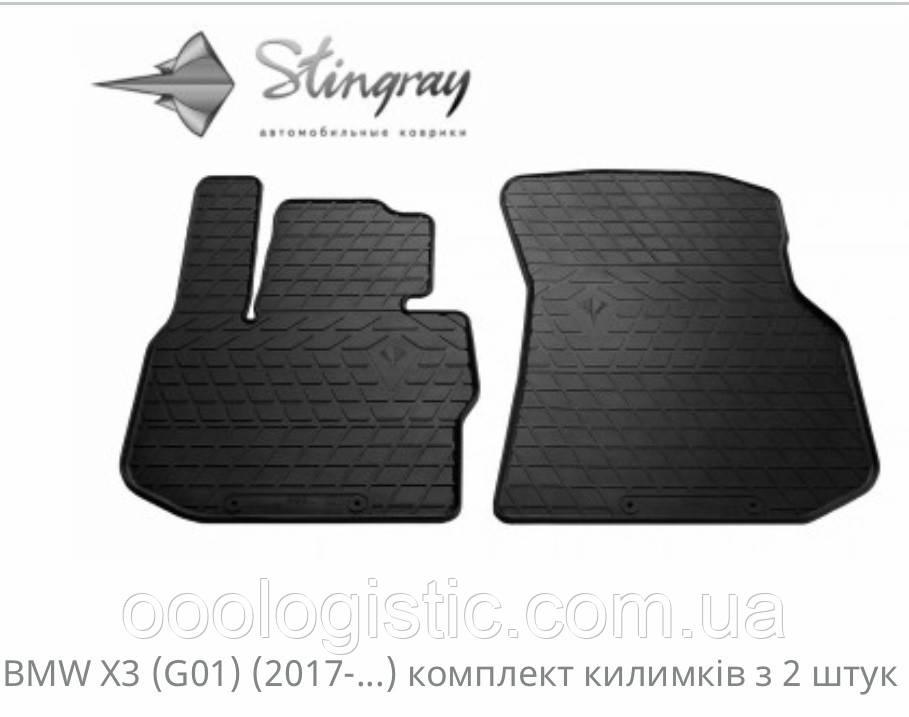 Автоковрики на BMW X3 ( G01) 2017> Stingray гумові 2 штуки