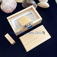 USB 3.0 |16 ГБ| WOOD + подарок деревянная коробка