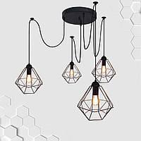 Подвесная люстра на 4-лампы CLASSIC/SP-4 E27 чёрный, фото 1