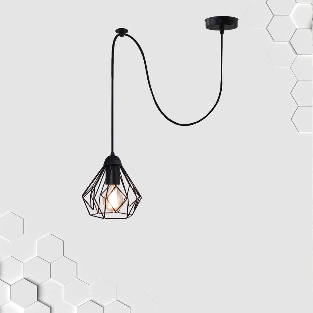 Подвесной светильник на 1-лампу SKRAB/SP E27 чёрный