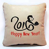 """Новогодняя подушка 2016 """"Happy New Year 2016!"""" 02"""