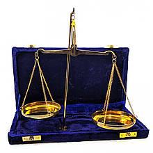 Весы настольные бронзовые сувенирные