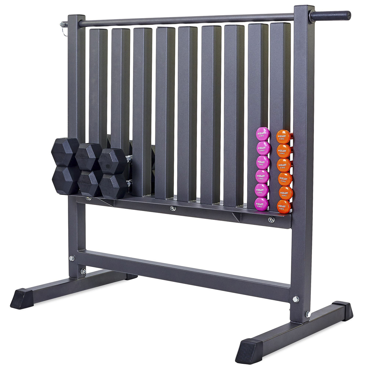 Подставка под гантели для фитнеса на 80шт Zelart (металл, р-р 107х68х105см)